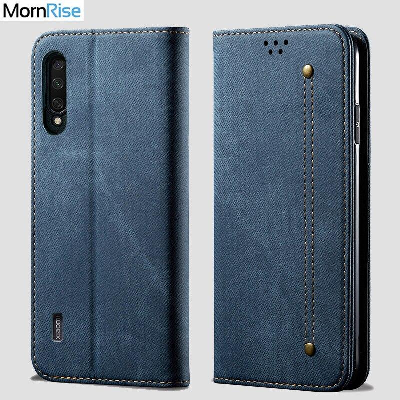 For XiaoMi MI 9 lite Wallet Case Magnetic Book Folio Flip Cover For Xaomi MI 9 Pro 5G Denim Leather Bags Kickstand Card Holder