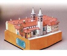 3D papier puzzle construction modèle jouet tchèque Prague St.George basilique église cathédrale célèbre construire la grande architecture du monde