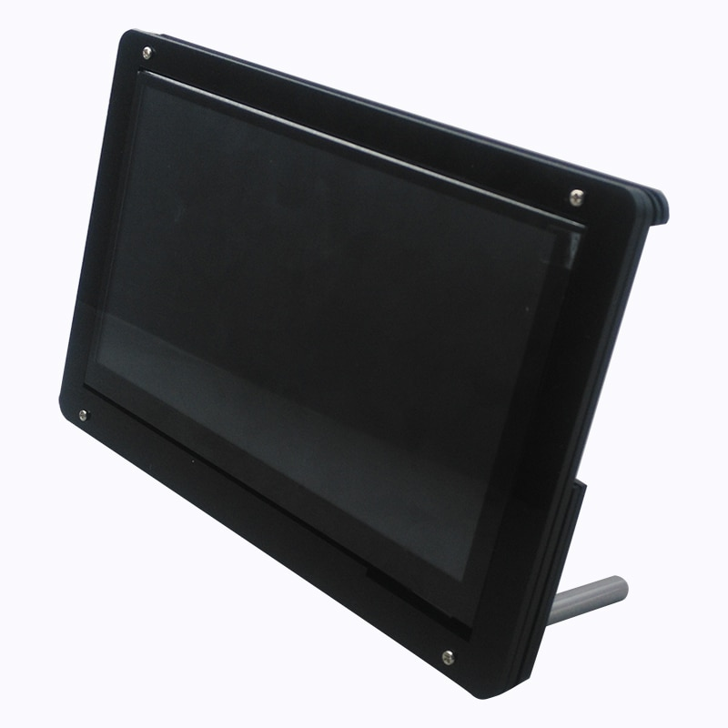 new 7 inch usb hdmi lcd display monitor capacitive touch screen holder case for raspberry pi windows jetson nano 7 Inch LCD Acrylic Case Raspberry Pi 3 Model B LCD Touch Screen Display Monitor Bracket Case for Raspberry Pi 4 LCD Screen