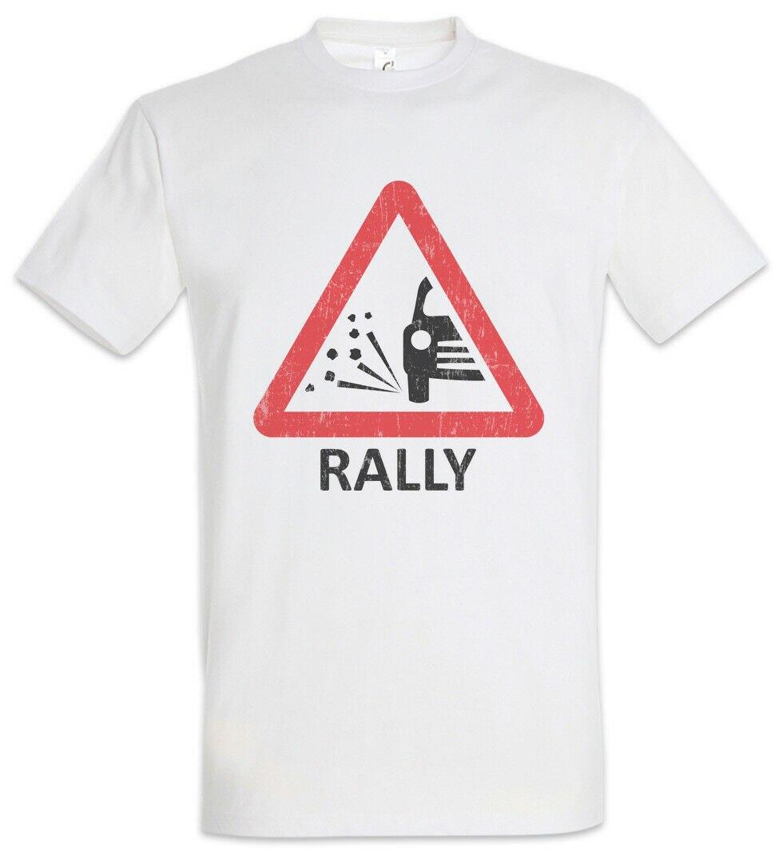 Rally Sign T-Shirt Race Racing car Driver Racer Petrol Head Fun Love Addicted