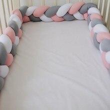 1M/2M/3M/4M Baby Crib Braided Bumper Proudlyzimbabwean Cot Bumper Knot Pillow Cushion Cot Protector Room Decor