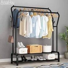 Perchero de pie para secado de ropa, mueble sencillo telescópico móvil con riel de tela, almacenamiento colgante