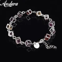 fashion jewelry 925 sterling silver bracelet cubic zirconia bracelet color woman jewelry gift