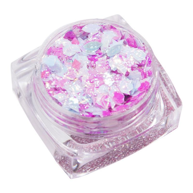 TEAYASON 10 Colors Sequins Eye Makeup Corner Star Patch Sequin Gel Cream Face Sticker Glitter Powder Fairy Dust Tears Paste Gift