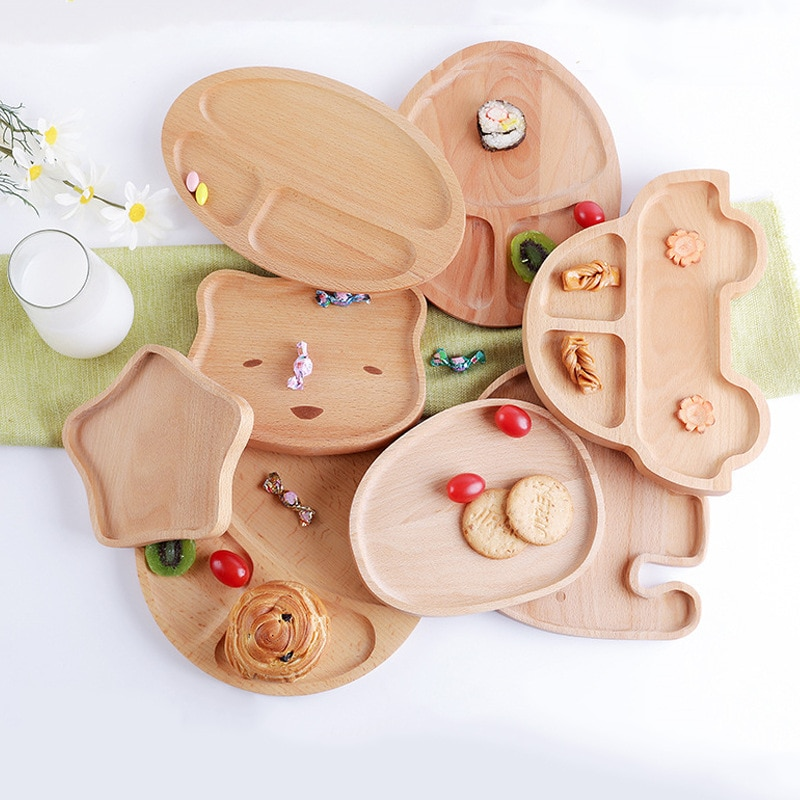 Prato de madeira para frutas, placa de parede infantil para bebês de madeira placa auxiliar de lanche criativa de madeira
