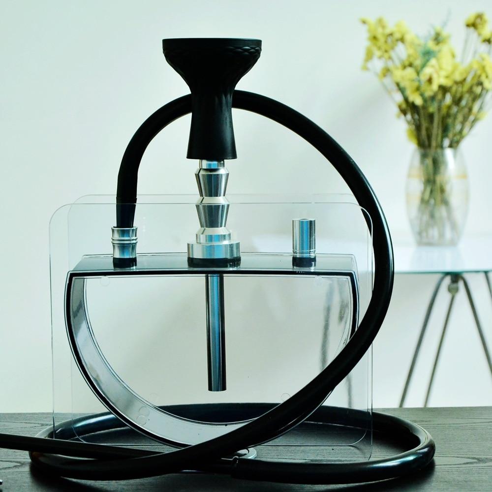 New Design Acrylic Hookah Shisha Complete Set for Sheesha Narguile Chicha Hookah Silicon Bowl&Clip&Pipe Hose Shisha Accessorie enlarge