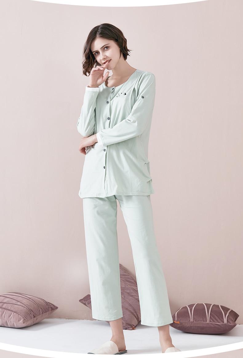 Nursing Nightgown Pregnant Materntiy Robe Pregnancy Plus Size Pajamas Breastfeeding Big Long Sleeve Pregnant Sleeping Nightwear enlarge