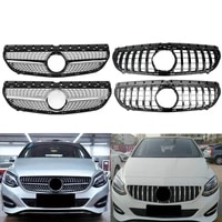 front bumper racing grill billet grille cover for mercedes benz w246 b class 2015 2019 diamond gt