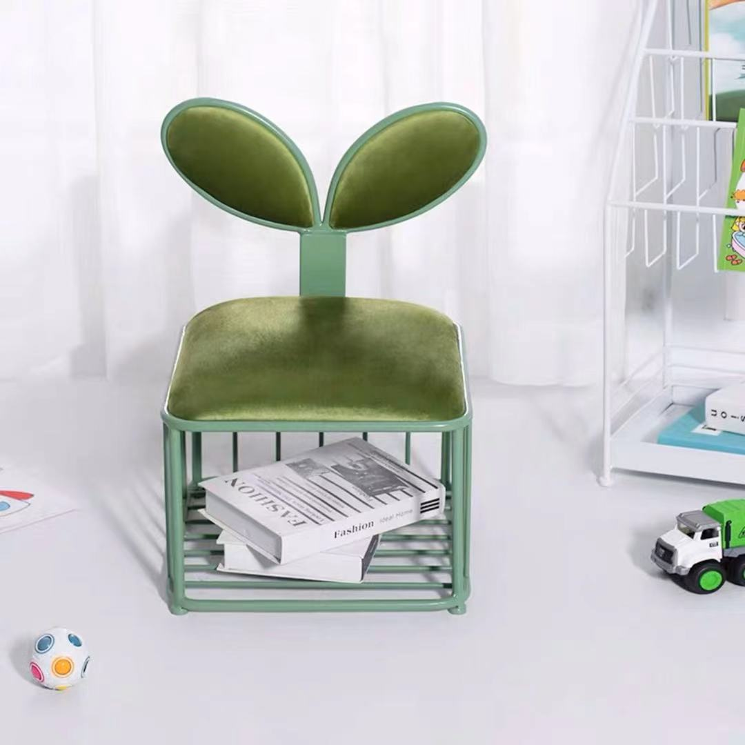 Furniture Children's Tianyi Family Lovely Backrest Small Bench Детская мебель Creative Anti-skid Low Stool Baby Fluffy Chair