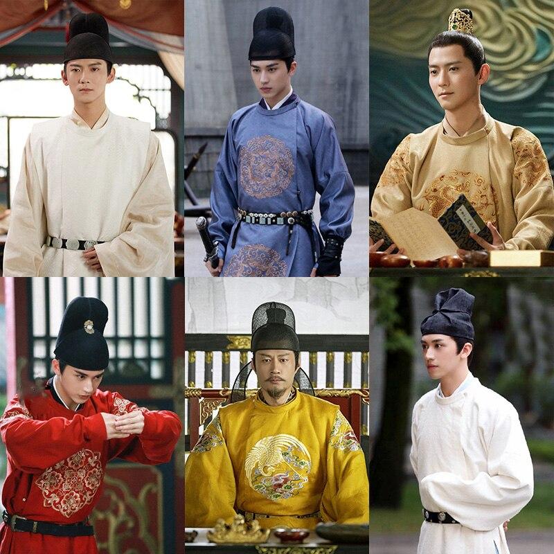 تانغ سلالة الرقبة المستديرة ثوب طويل الذكور الباحث الأمير زي بي شينغجيان التطريز الرجال مرحلة هانفو الدراما فنغ تشى ني تشانغ