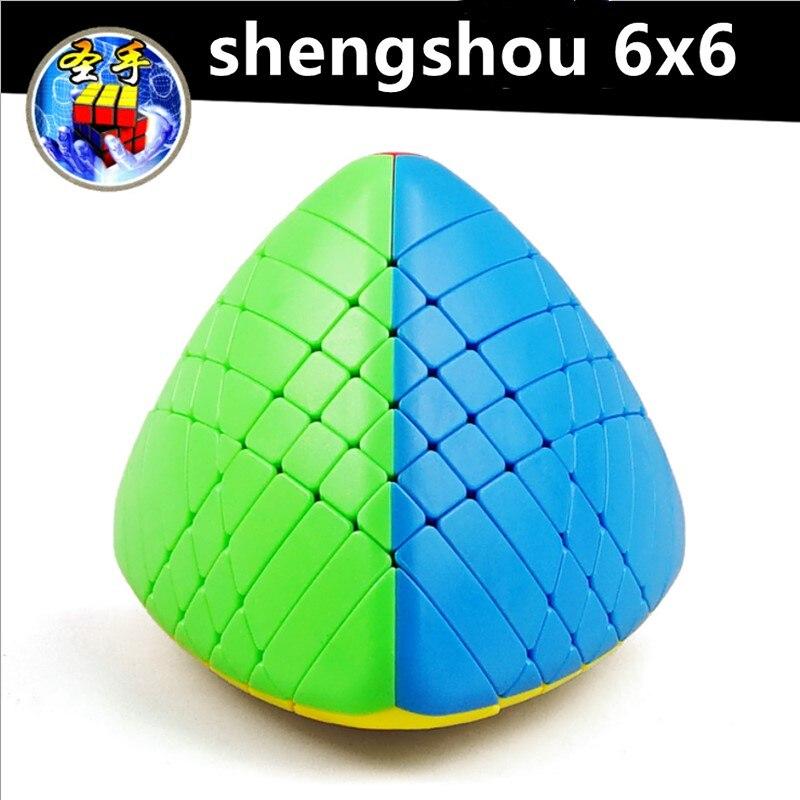 Shengshou 6x6x6 Mastermorphix Speed Cube 6x6 Rice Dumpling Magic Puzzle Cube shengshou 6x6 pyramid-shaped cubo Magico