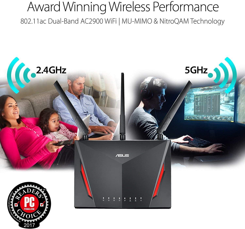 Direct Price RT-AC86U Ac2900M Gigabit Wifi Routers Mesh  Wireless 5g Modem Port 2.4g Home System Portable Hotspot