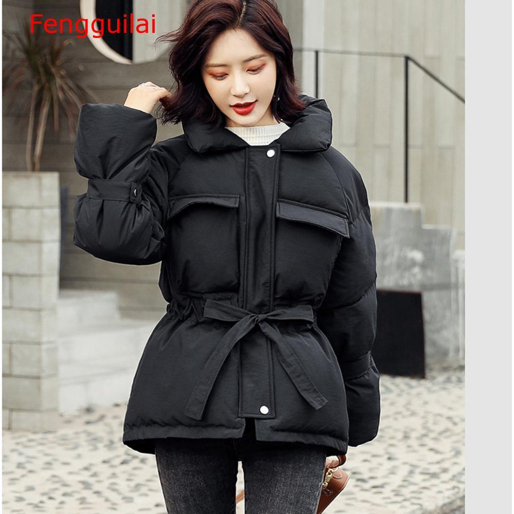 Осенне-зимнее женское пальто 2020 повседневное приталенное однотонное пальто с стоячим воротником женские теплые куртки больших размеров с ...