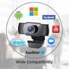 DERE X22 FHD Webcam 1080P Mini USB Web Cam Mini Camera Video Conference Microphone Focus for Rotatable Desktop Computer Laptop 6