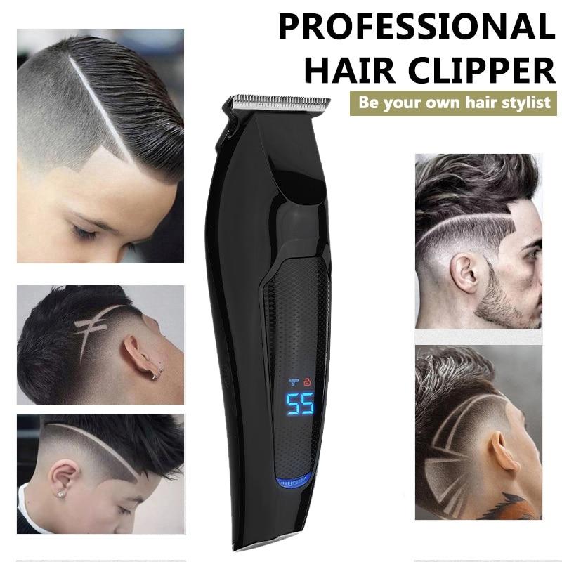 Electric Hair Clipper LCD Digital Display Rechargeable Hair Clipper Retro Electric Clipper Beard Trimmer enlarge