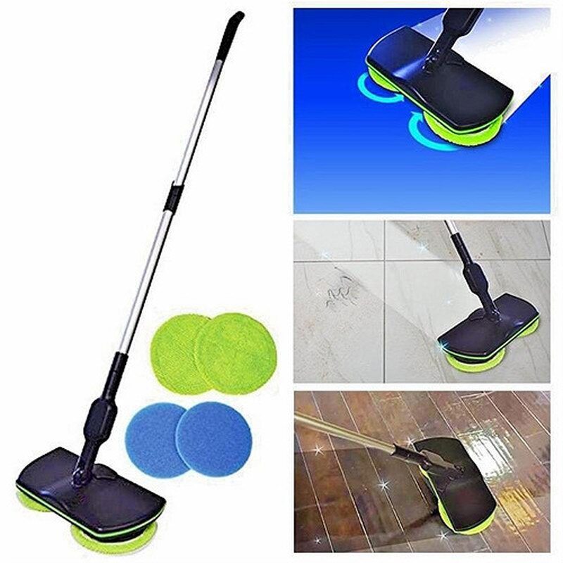 New Spin Maid Rechargeable Cordless Powered Floor Cleaner Scrubber Polisher Mop Household Cleaning Tools enlarge