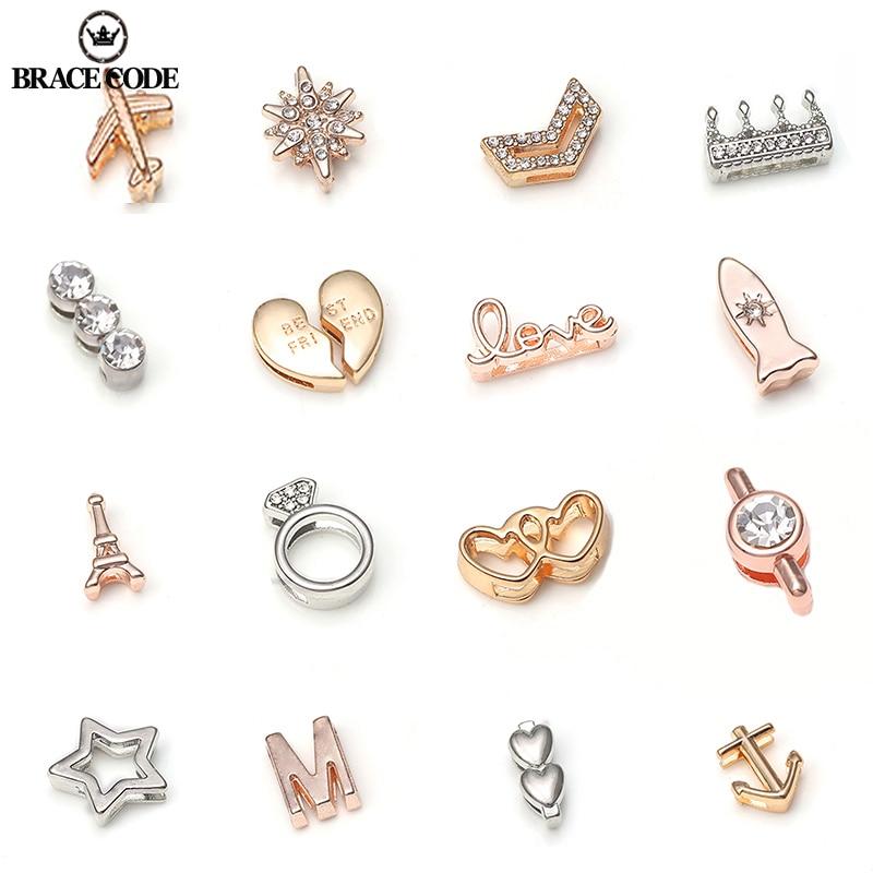 BRACE CODE 2019 New Fashion Round Crystal Charms Shining Fits 10 mm Bracelets DIY Pandora Mesh Bracelet Jewelry as Women Gifts