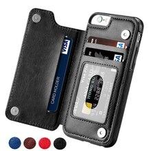 레트로 PU 가죽 케이스 아이폰 11 프로 XS 최대 XR X 6 6s 7 8 플러스 5S SE 카드 소지자 삼성 S20 S10 플러스 커버에 대 한 전화 케이스