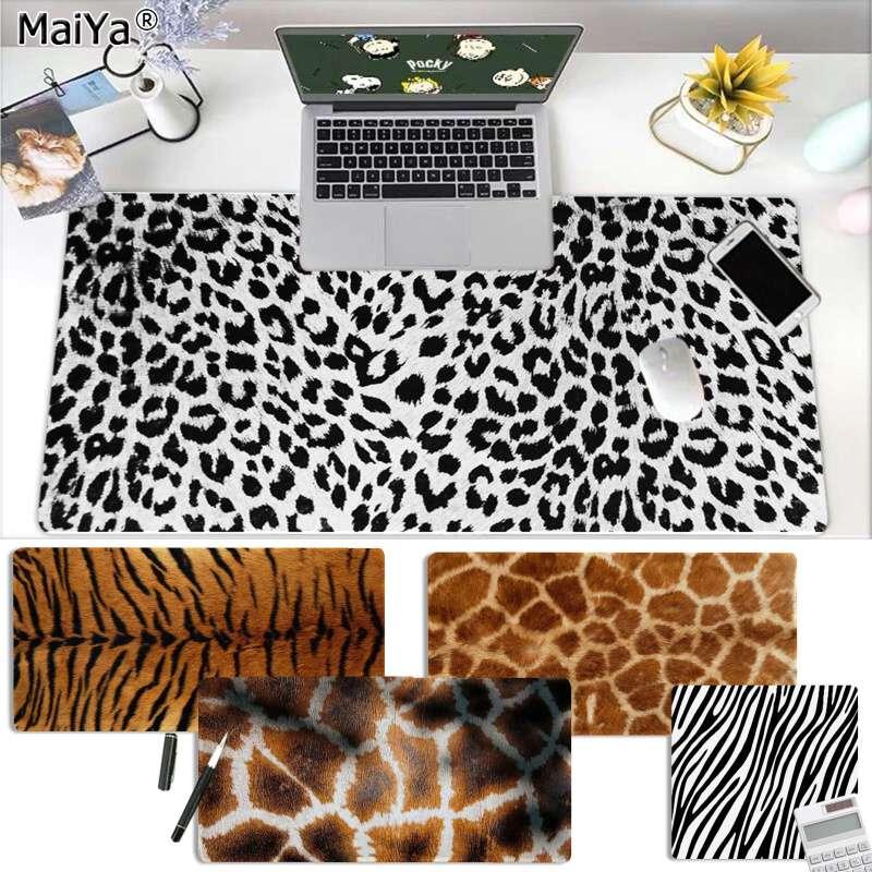 Maiya, mi textura de pelo de Animal favorito, diseño DIY de juego con diseño de alfombrilla para ratón, alfombrilla grande para ratón, alfombrilla para teclado, envío gratis
