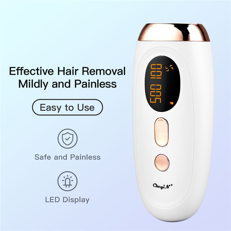 Depiladora IPL permanente Flash de 500000 Flashes, depilación láser, fotodepiladora facial eléctrica,...