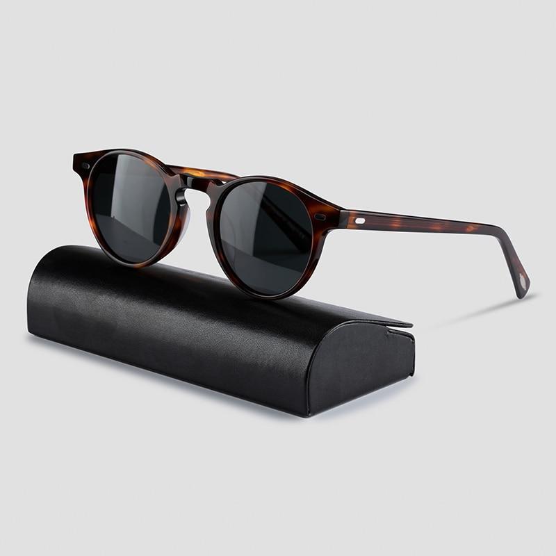 Gregory Peck Sunglasses OV5186 Vintage Polarized Sunglasses Women Sun Glasses for Men Round Sunglasses Men OP Brand Original Box