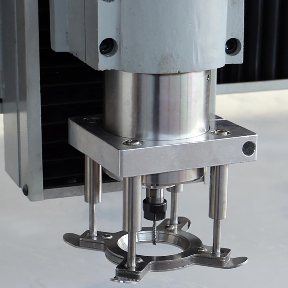 Nuevo 65mm 80MM 100mm CNC máquina de grabado por ordenador Placa de presión automática máquina de grabado de madera husillo placa automática