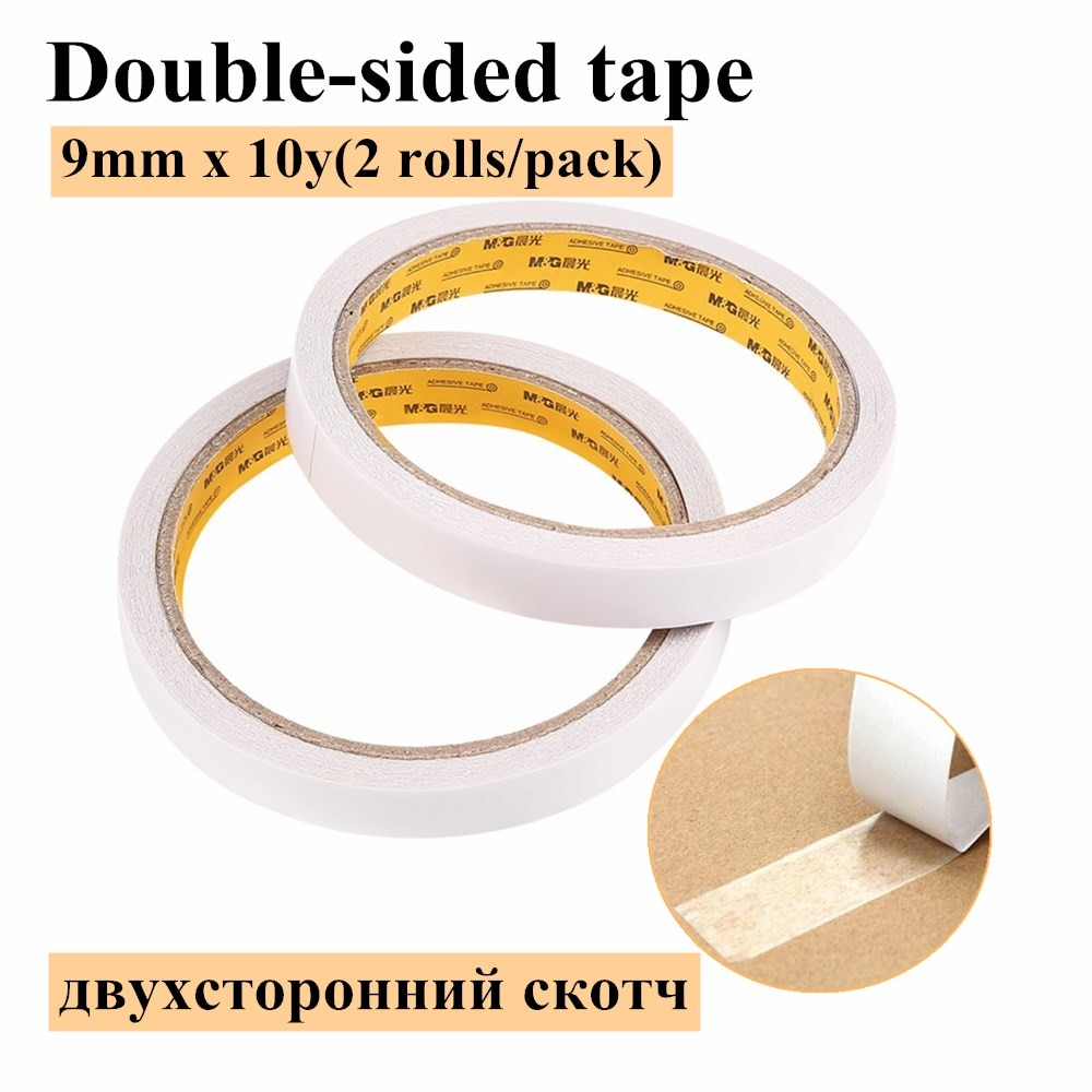 M&G Stationery Double-sided Adhesive Cotton Paper Double-sided Adhesive Tape Strong Sponge Adhesive AJD97348 double sided cotton paper tape 12mm 9 1m white hot melt cotton paper tape home double sided adhesive school office stationery
