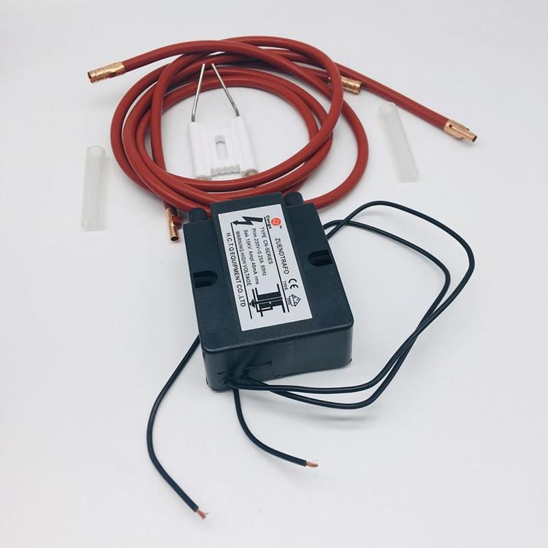 Горелка для отработанного масла, керамическая игла зажигания 220 В, импульсный воспламенитель высокого давления для горелки, керамический э...
