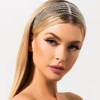 fashion lady shining crystal rhinestone hair band headdress exquisite sweet bridal headdress jewelry valentines day gift
