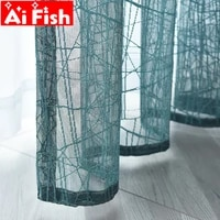 simple modern partition plain texture curtains water crack design thickened window screen tulle sheer for living room my2035