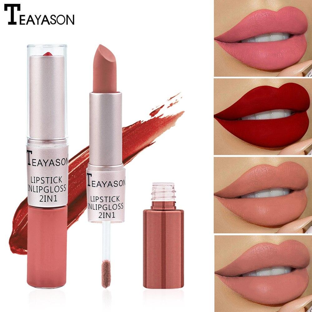 À prova dwaterproof água batom gloss batom beleza cosméticos batons vermelho batom matiz matte longa duração umidade lábios maquiagem gloss