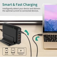 smart charger pd 100w gan ppsqc4 type c fast quick charge 3 0 hub for phone pad iphone11 pro max xs xr 7 port usb quick charge