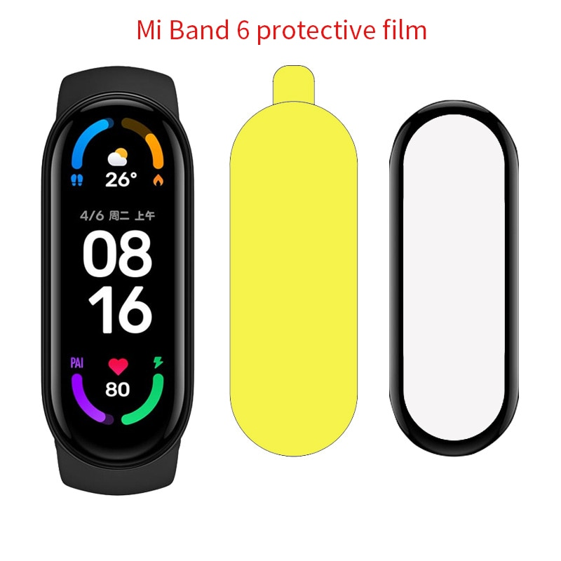 Фото - 2-5Pcs 3D Curved Protective Glas For Xiaomi Mi Band 6 Glass Screen Protector Film On Xiaomi Miband 6 Smart Bracelet Accessories xiaomi mi curved gaming m 34 bhr4269gl