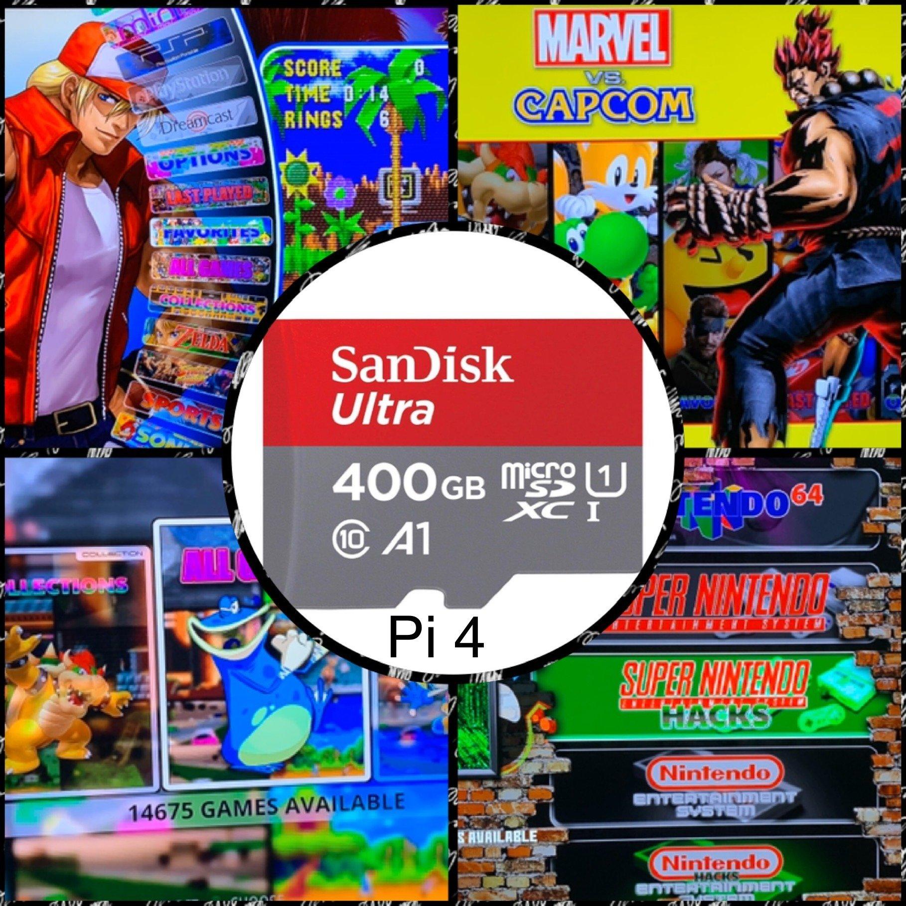 400GB ريتروبي 4.6 محطة مضاهاة بطاقة SD-لراسبيري بي 4 ، Boxart ثلاثية الأبعاد ، معاينات الفيديو-14,600 + ألعاب 50 أنظمة