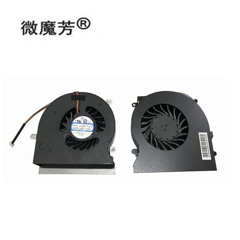 Новый Процессор вентилятор охлаждения для MSI GT62 GT62VR MS-16L1 MS-16L2 MS-16L3 6RD 6RE 7RE N322 N395 PABD19735BM 4-контактный 12V 0.65A 4Pin