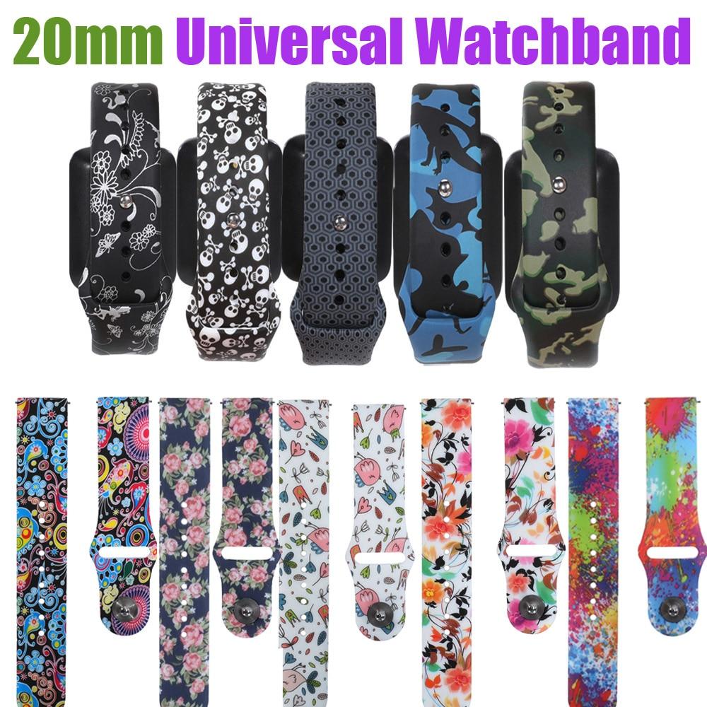 Pulseira universal de 20mm, compatível com huawei watch 2 amazfit bip bit amazfit gtr 42mm, pulseira inteligente de liberação rápida para ticwatch 2