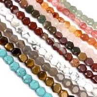 natural stone beads rose quarts grey agates section hexagon loose beads for jewelry making diy bracelet necklace 7 87 strand
