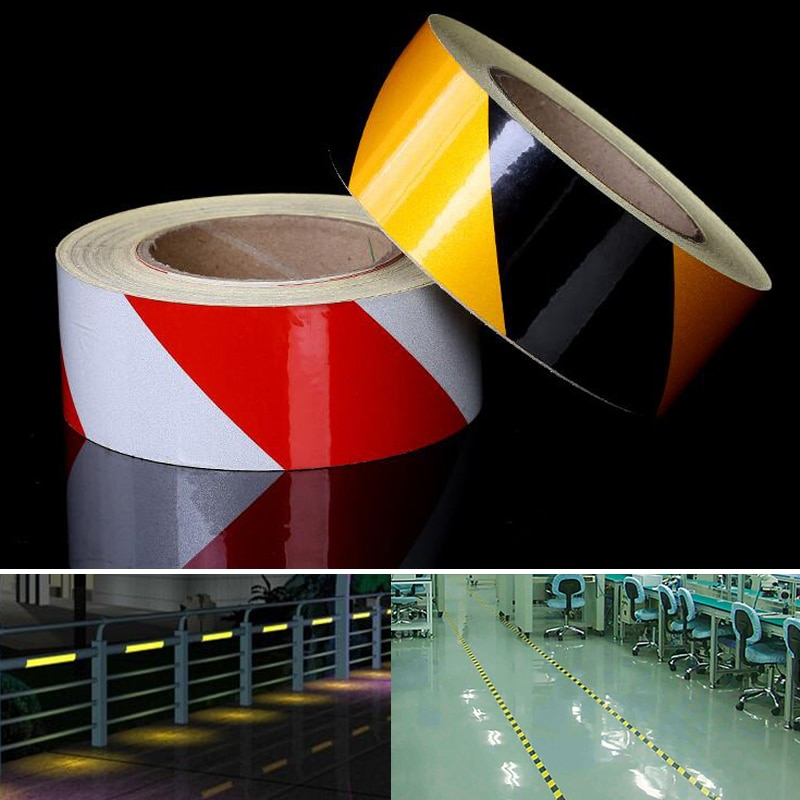 Self-Adhesive Reflective Safety Warning Tape Road Traffic Construction Site Reflective Guide Sign недорого