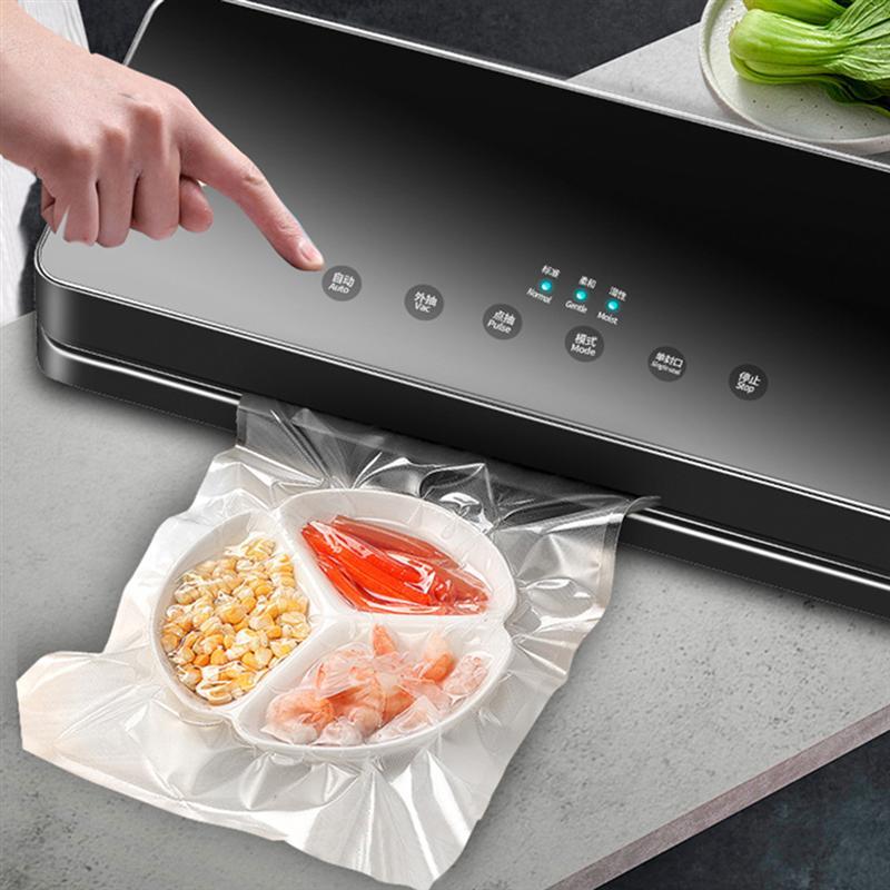30cm automático elétrico aferidor do vácuo do agregado familiar máquina de embalagem preservação alimentos para casa loja cozinha com plug eua (preto)