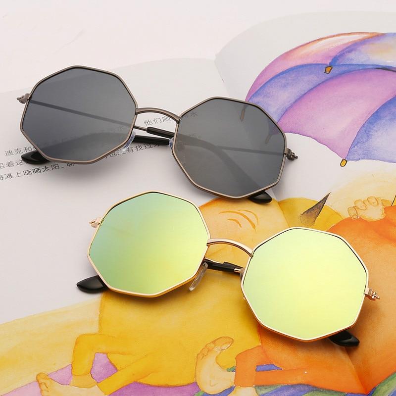 Mercury coating Kids Sunglasses Dual Beam Children Baby Boys Girls Protection Sun Glasses Personas G