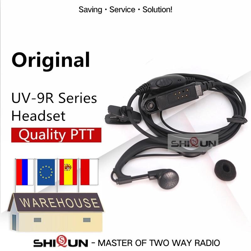Baofeng PTT акустическая гарнитура для UV-9R UV-XR UV-9R Plus BF-9700 BF-A58 UV-5S GT-3WP BF-A58 WP Walkie Talkie наушник Mic