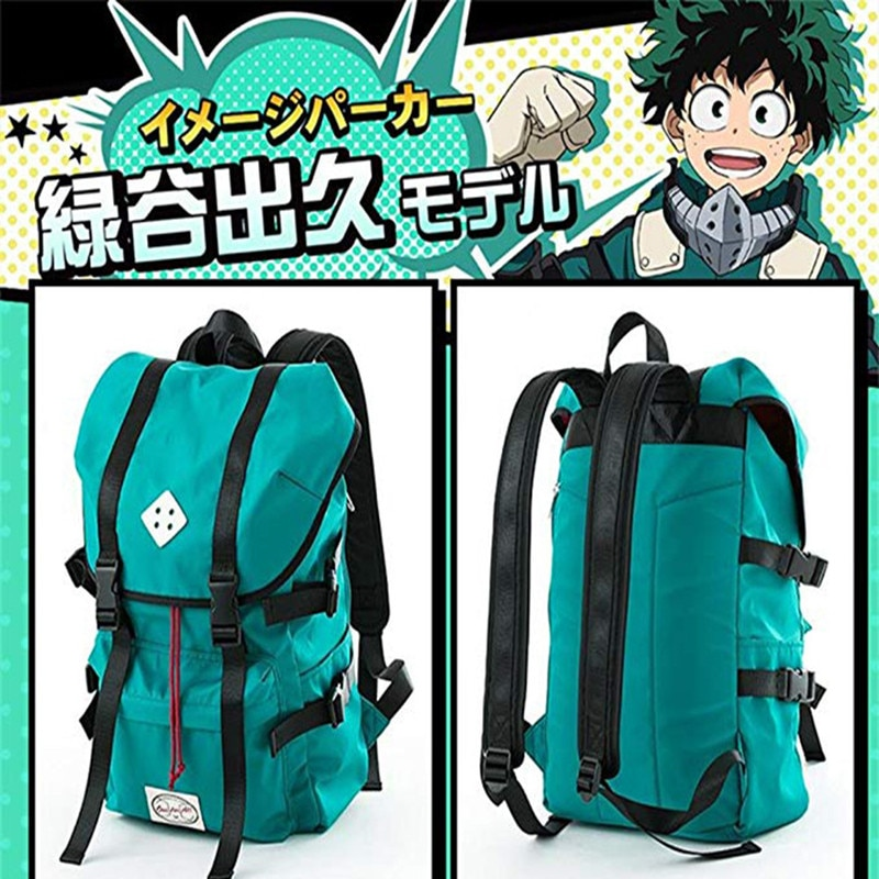 Mi héroe Academia Midoriya Izuku Cosplay traje bakugou katsuki mochila de estudiante de moda bolsa de Todoroki Shoto bolsa de viaje