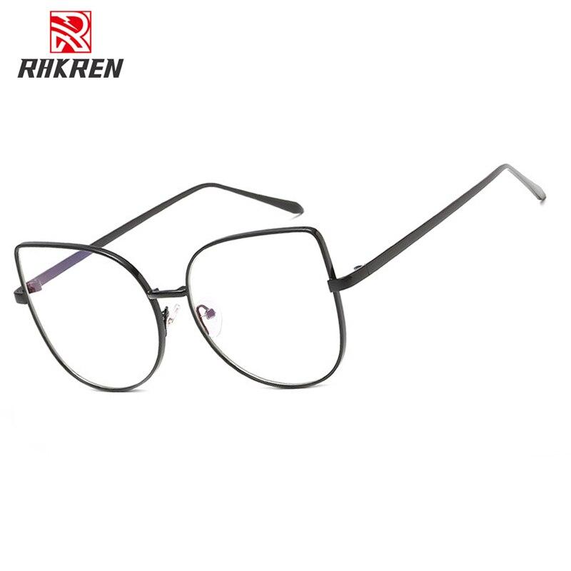 YT109-lunettes optiques pour femmes, montures métalliques rondes, avec lentilles transparentes avec oreilles de chat, monture noire, argent ou or, nouvelle collection de stylistes