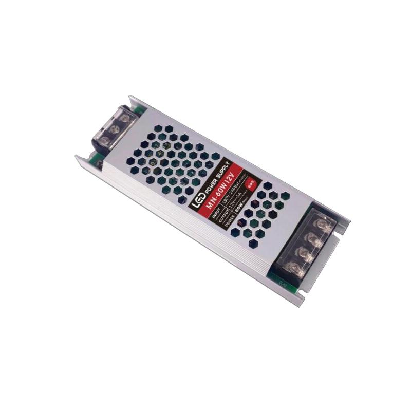 Transformer Power Supply Ultra Thin slim DC 12V 60W 150W AC190-240V Driver For LED Strip Rigid Bar L