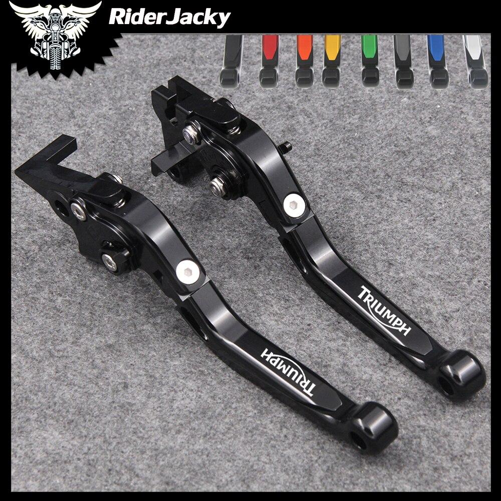 Riderjacky folding extensíveis freios da motocicleta embreagem alavancas para triumph bonneville/se/t100/preto 2006-2015 11 2012 2013 2014
