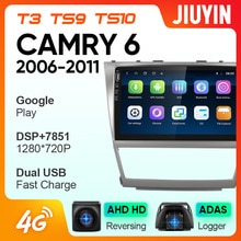 JIUYIN For Toyota Camry  2006-2013 Car Radio Multimedia Video Player Navigation GPS Android No 2din