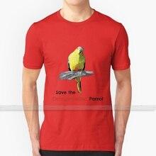 Футболка мужская и женская, с оранжевым воюющим попугаем (светильник, цвет фона), летние футболки из 100% хлопка