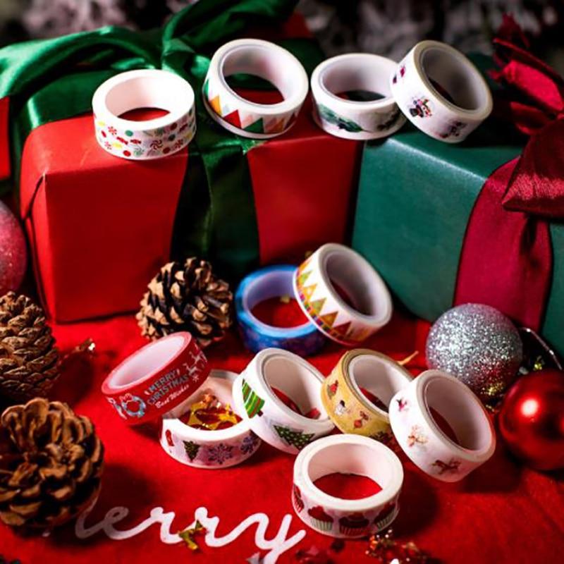 Merry Christmas Decorative Adhesive Tape Decoration Diy Scrapbooking Sticker