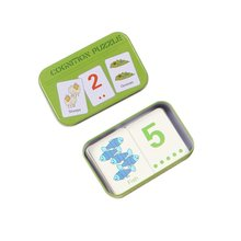 Baby montessori Learning Card Children Cognitive Card With Iron Box Kids English Learn Tool Educativ