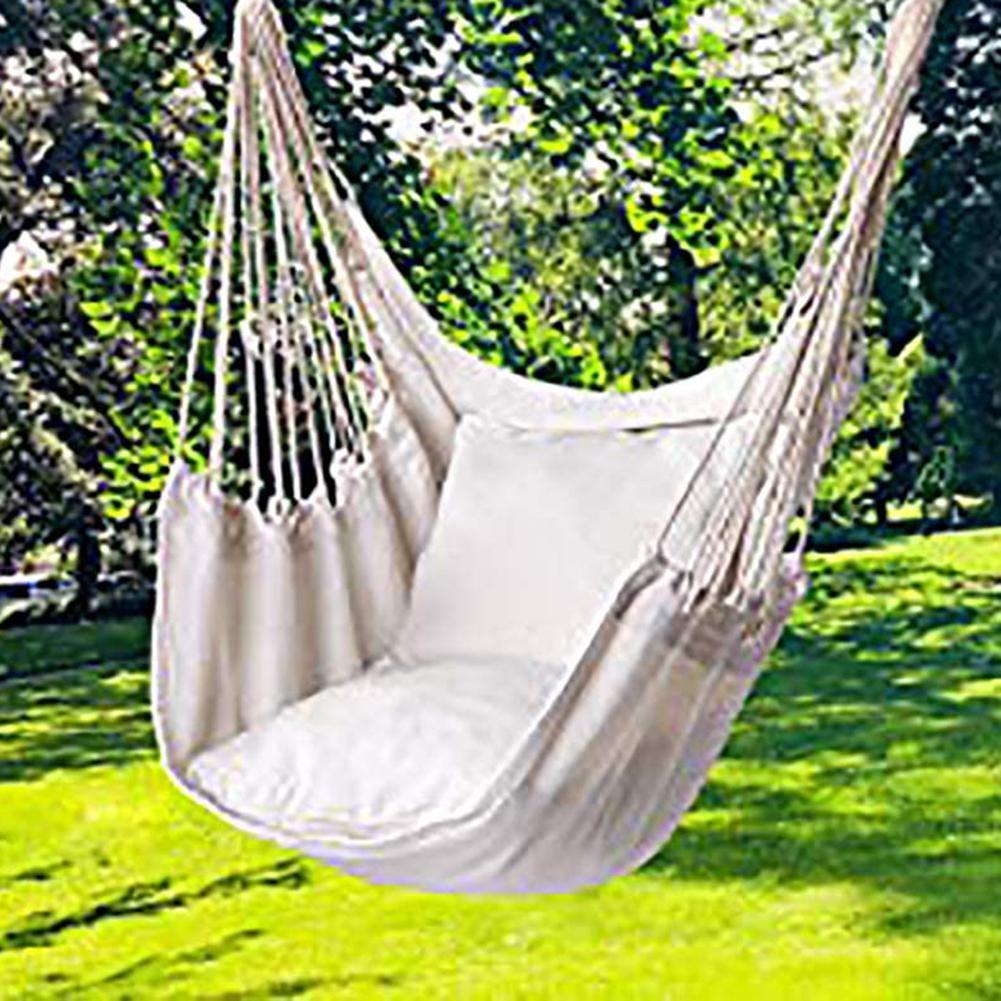 Садовый гамак-качели, портативное утолщенное кресло-качели для использования на улице, для путешествий, кемпинга
